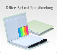 Office-Sets im Hardcover mit Spiralbindung