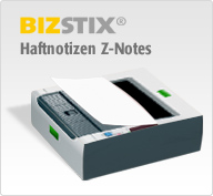 Haftnotizen Z-Notes aus dem Spender